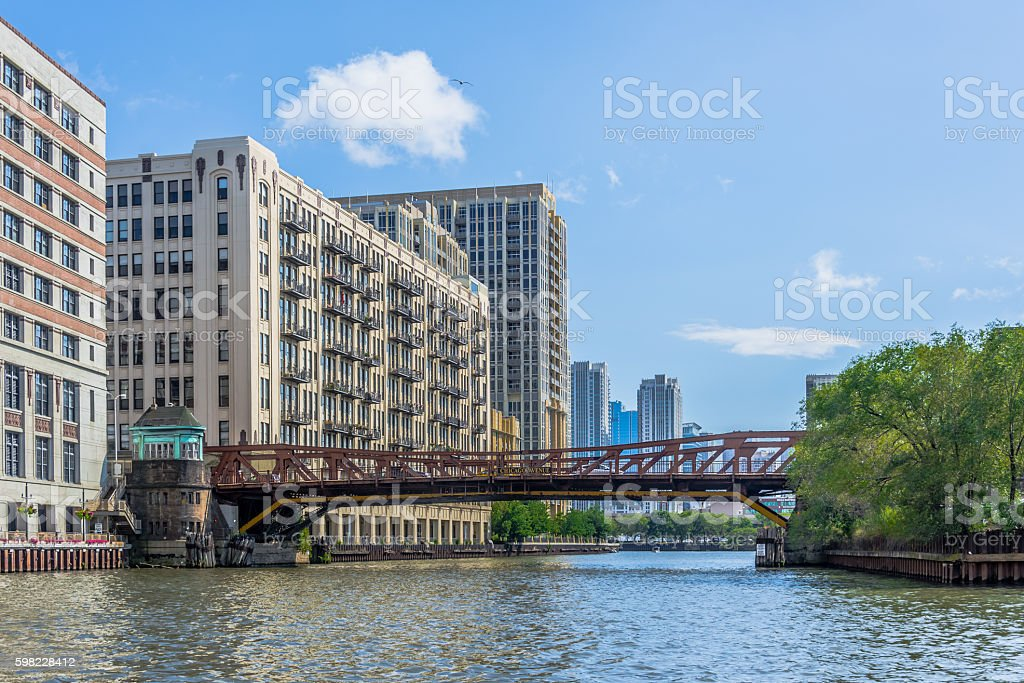 Chicago Avenue Bridge foto royalty-free