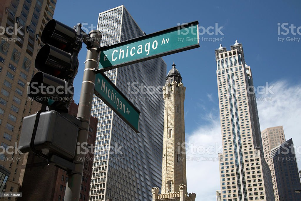 Chicago Avenue royalty-free stock photo