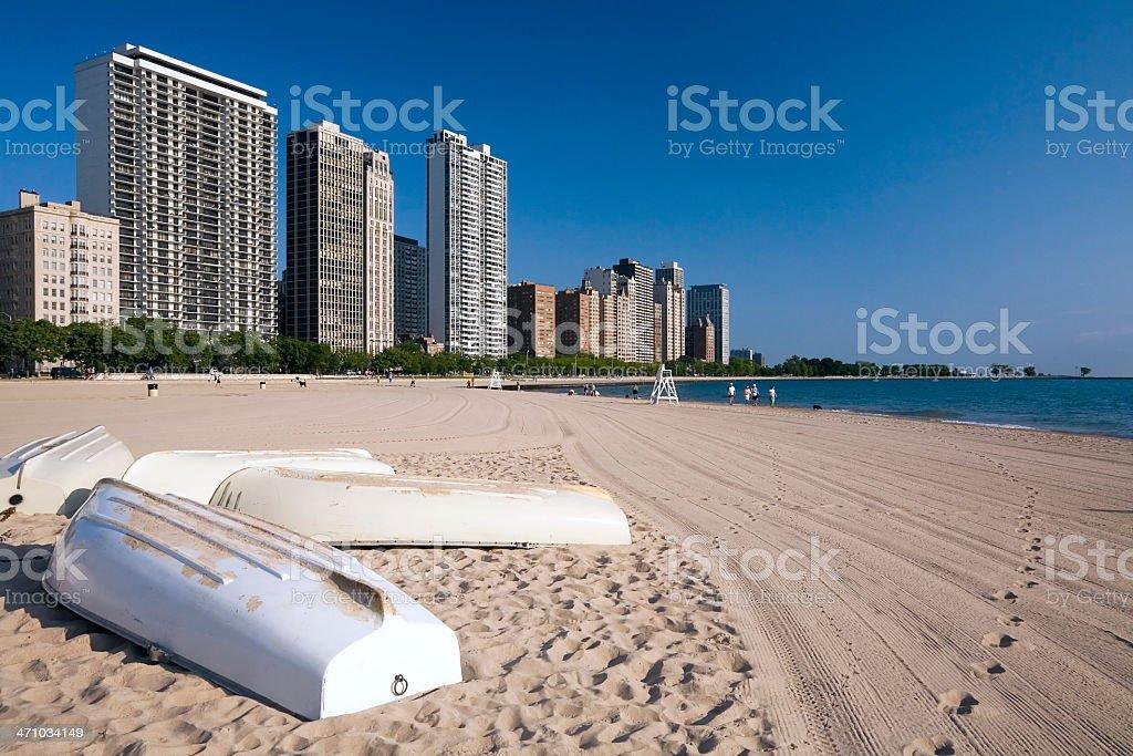 Chicago Beach Scene royalty-free stock photo