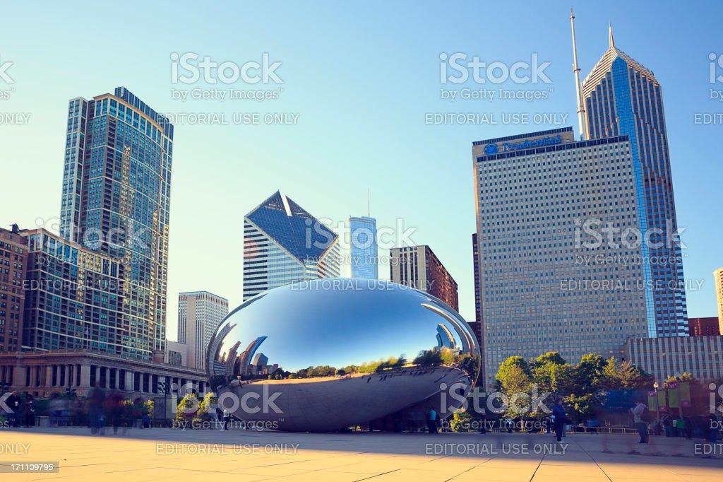 Chicago Bean in Millennium Park stock photo