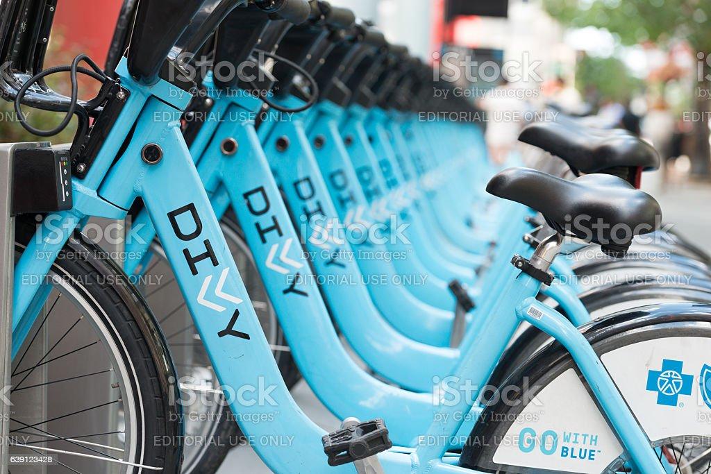 Chicago Bike Sharing stock photo