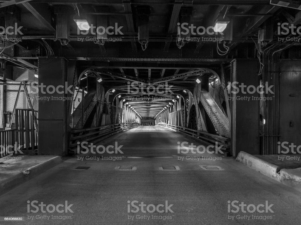 Chicago bridge over the river - foto stock