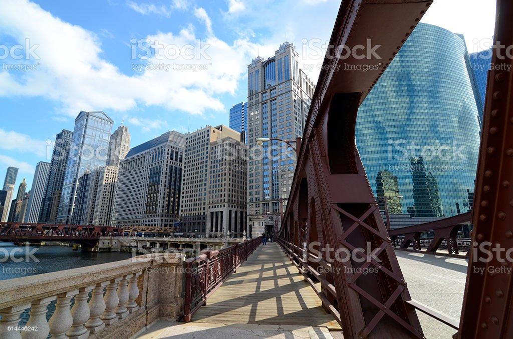 Chicago Bridge stock photo