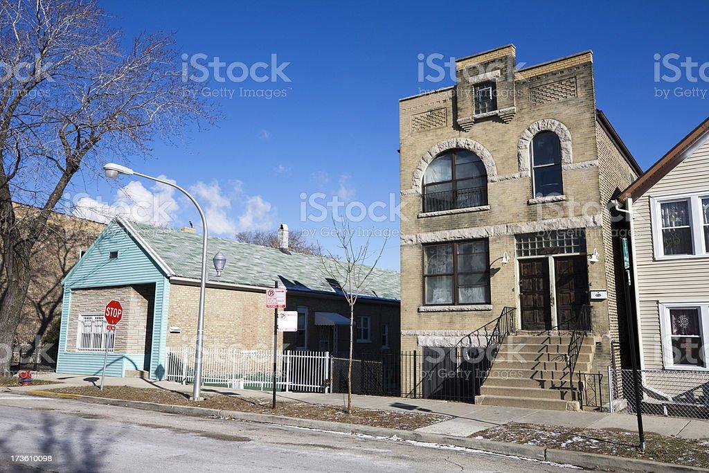 Chicago Bridgeport Houses royalty-free stock photo