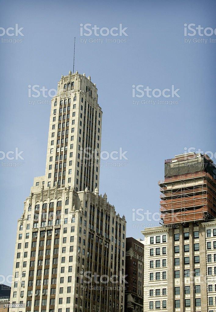 Edificios de Chicago foto de stock libre de derechos