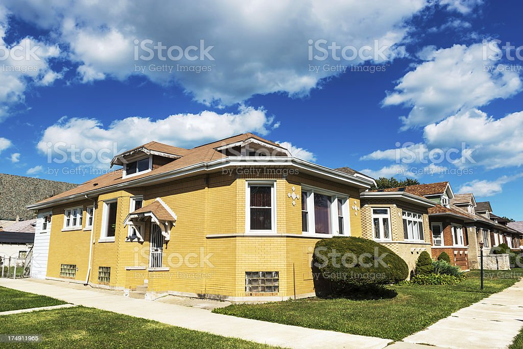 Chicago Bungalows in Avalon Park royalty-free stock photo