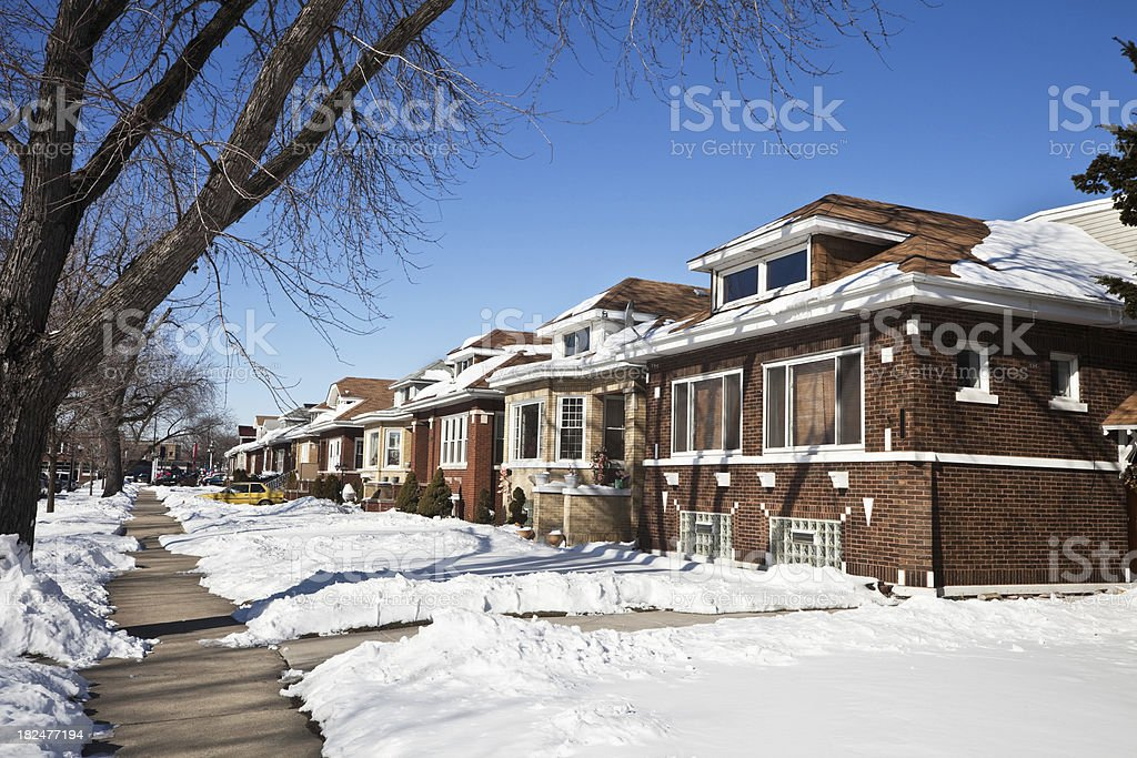 Chicago Bungalows in Belmont Cragin, a Northwest Side Neighborhood royalty-free stock photo