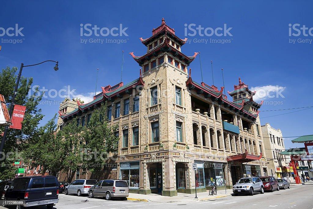 Chicago Chinatown royalty-free stock photo