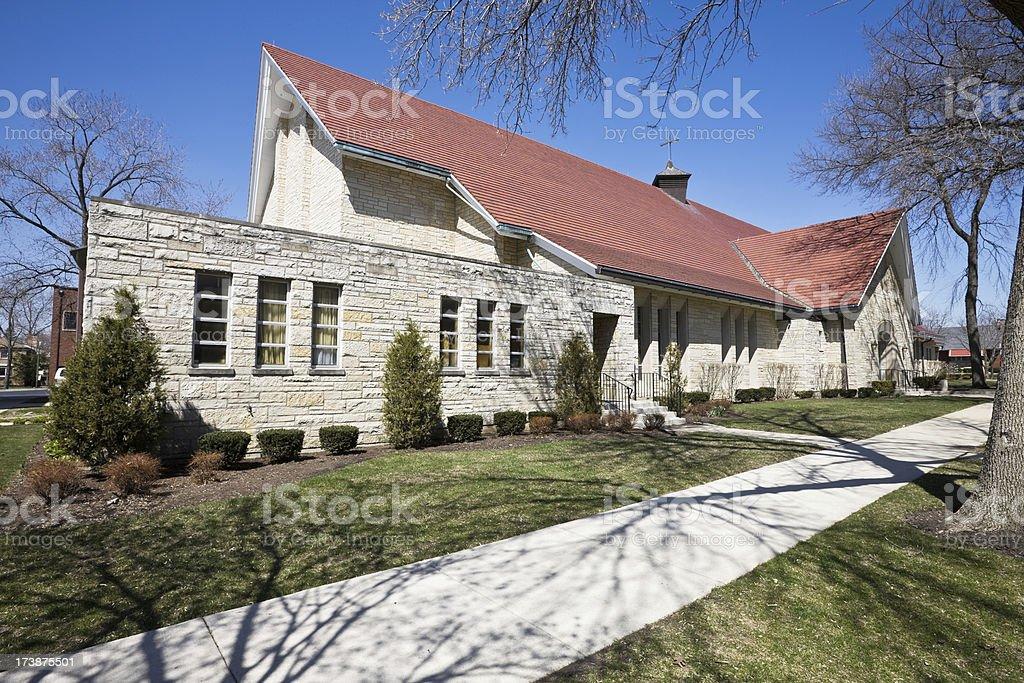 Chicago Church in Morgan Park royalty-free stock photo