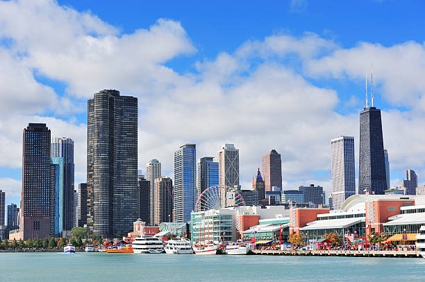 Chicago city downtown – Foto