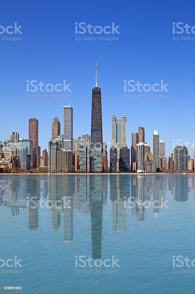 Chicago city stock photo