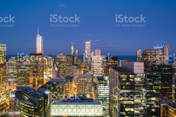 Photo of Chicago Cityscape Blue Hour