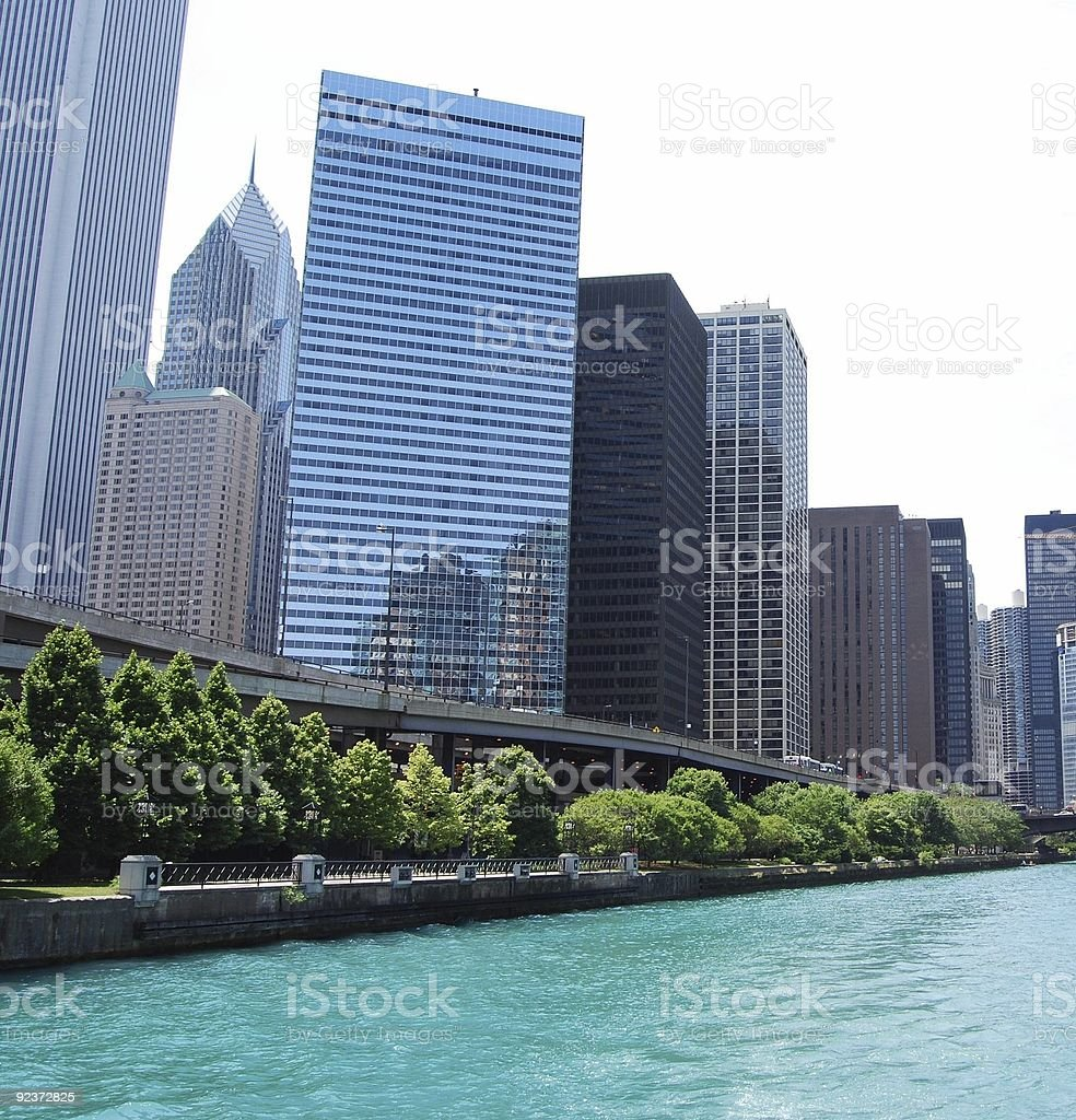 Chicago Cityscape on the River royalty-free stock photo
