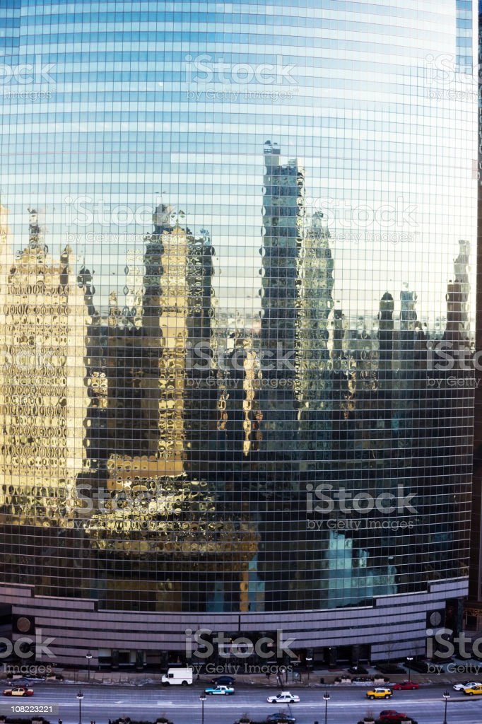 Chicago Cityscape Reflected royalty-free stock photo