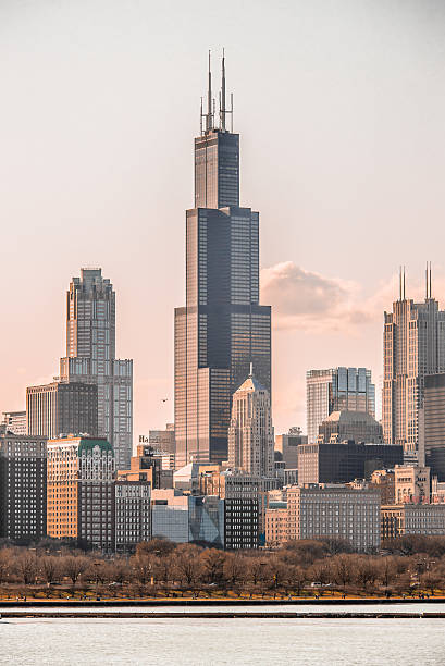 Chicago Cityscape Vertical stock photo