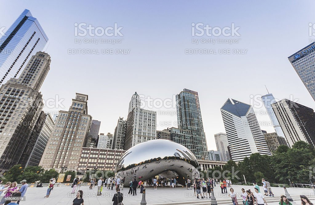 Chicago cloud gate, called the Bean stock photo