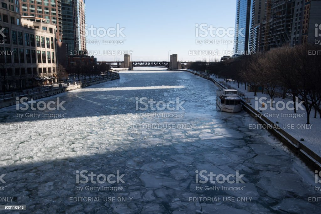 Chicago Cold Weather stock photo