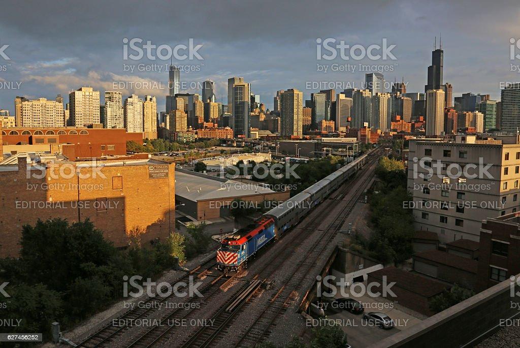 Chicago Commuter Train stock photo