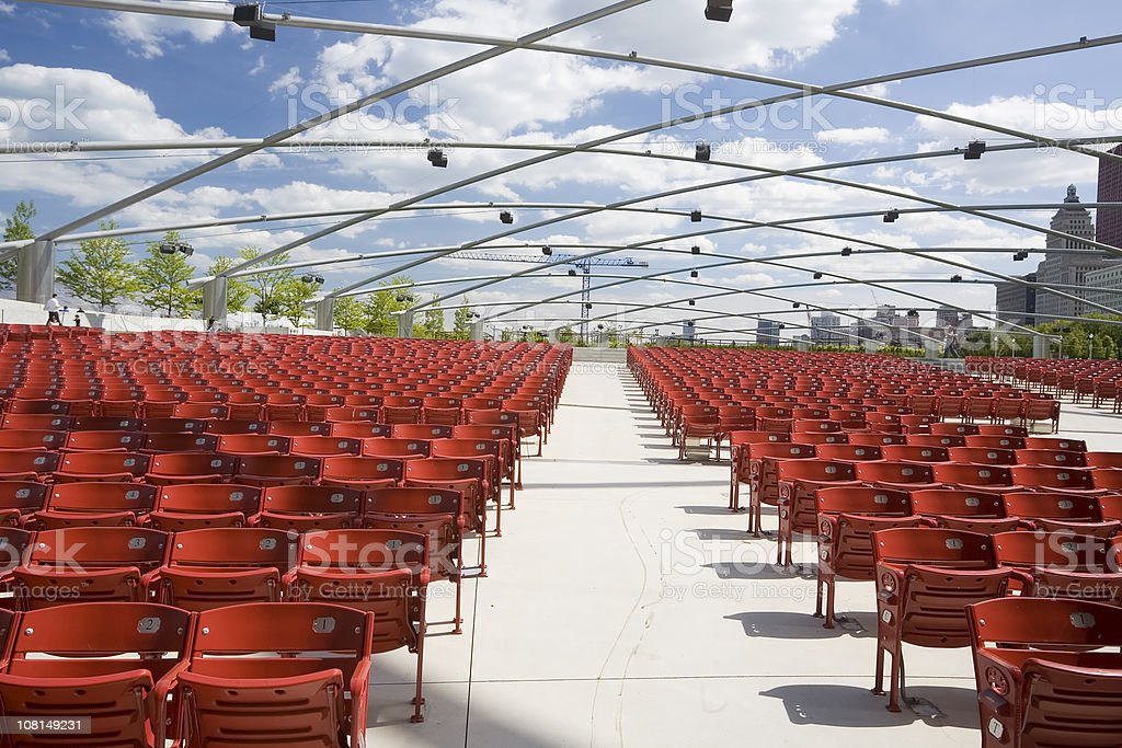 Chicago Concert Pavillion Chairs royalty-free stock photo