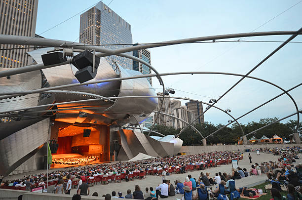 chicago concert - classical stock photos and pictures