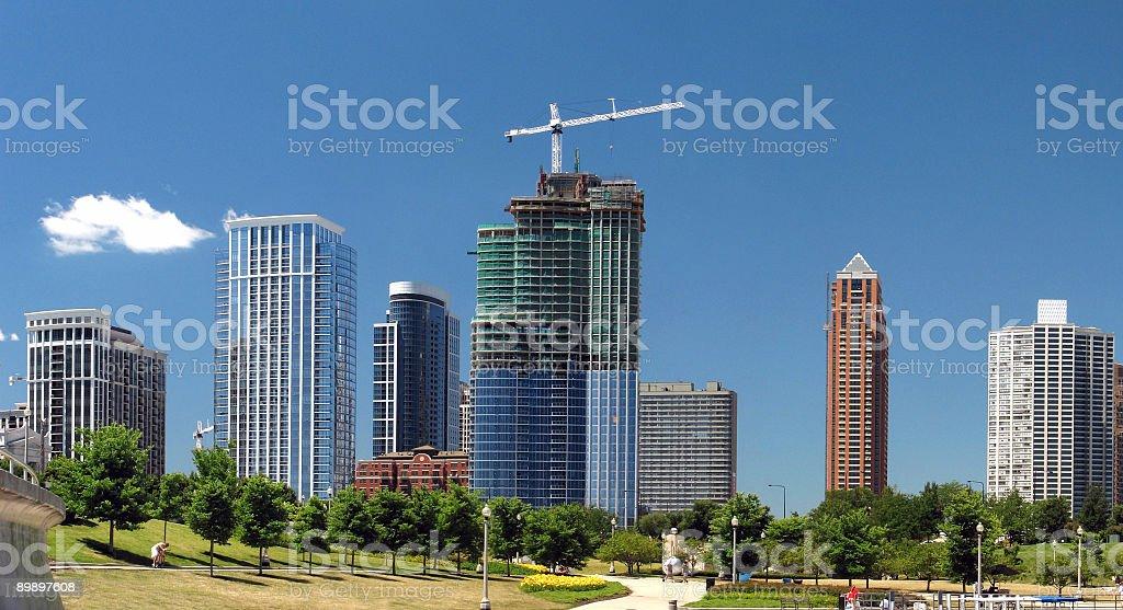 Chicago Condominium Panorama Near Museum Campus royalty-free stock photo