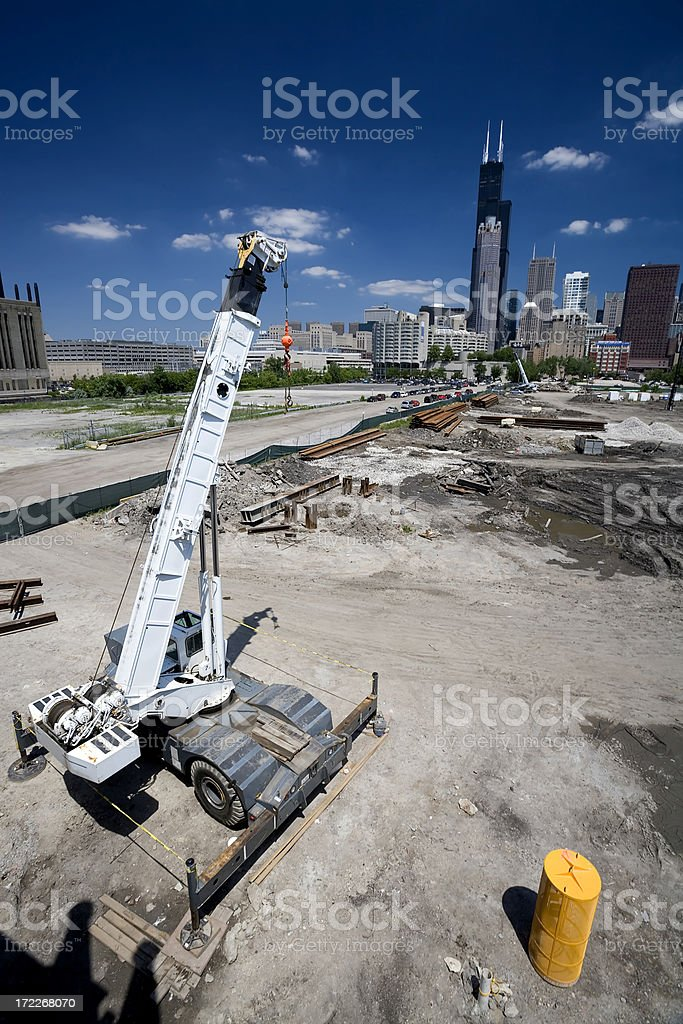 Chicago Construction Site royalty-free stock photo