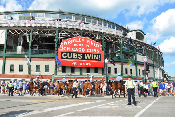 Chicago Cubs Wrigley field stock photo