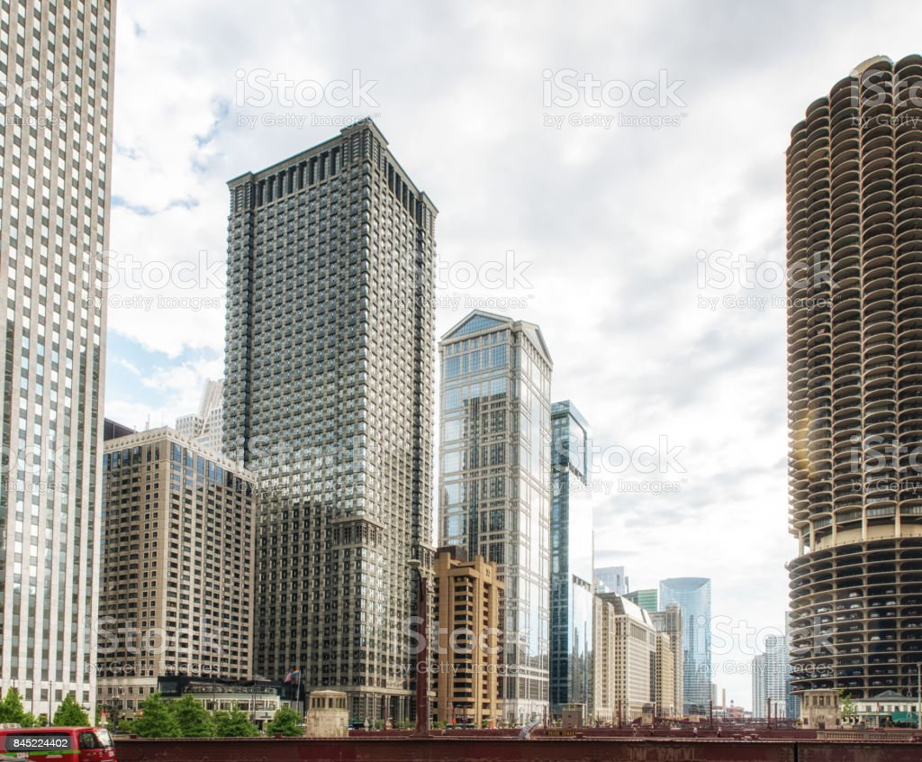 Chicago Downtown Architecture stock photo