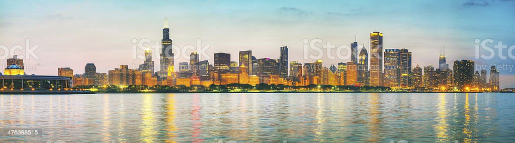 Chicago downtown cityscape panorama royalty-free stock photo