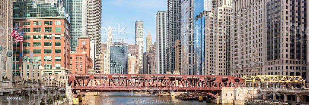 Chicago downtown panorama stock photo