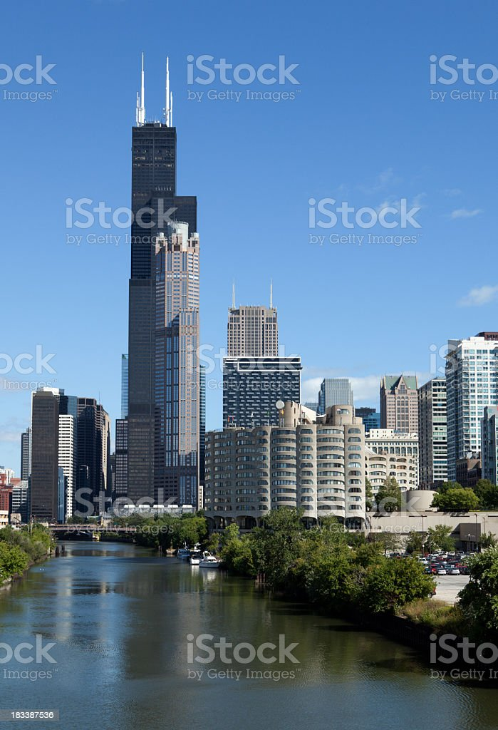Chicago Downtown Skyscrapers stock photo