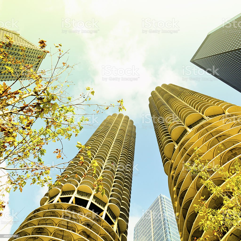 Chicago Downtown Skyscrapers royalty-free stock photo