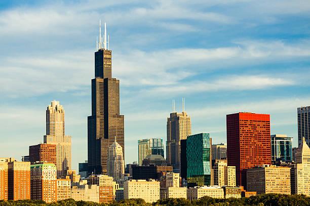 Chicago Innenstadt Wolkenkratzer, USA. – Foto