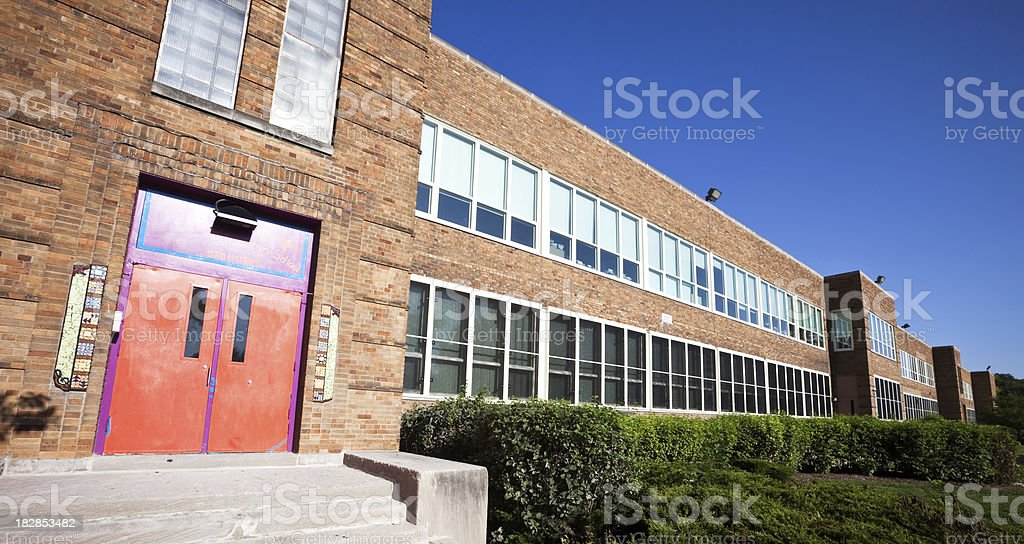 Chicago Elementary School on Southwest Side royalty-free stock photo
