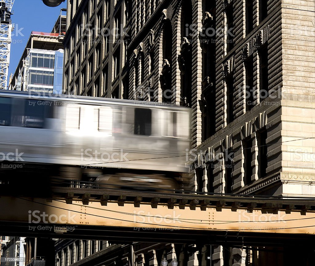 Chicago Elevated Train royalty-free stock photo