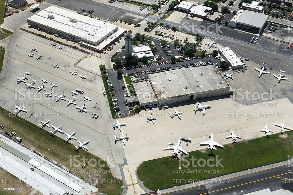 Chicago executive airport stock photo