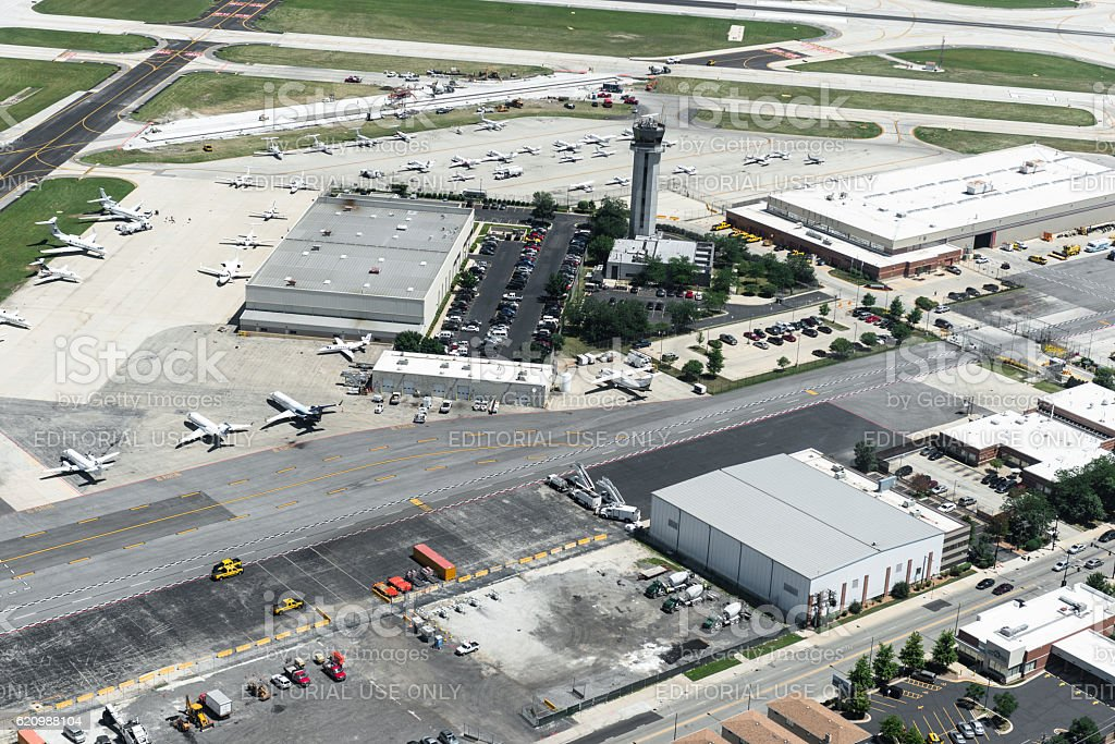 Chicago executive airport foto royalty-free