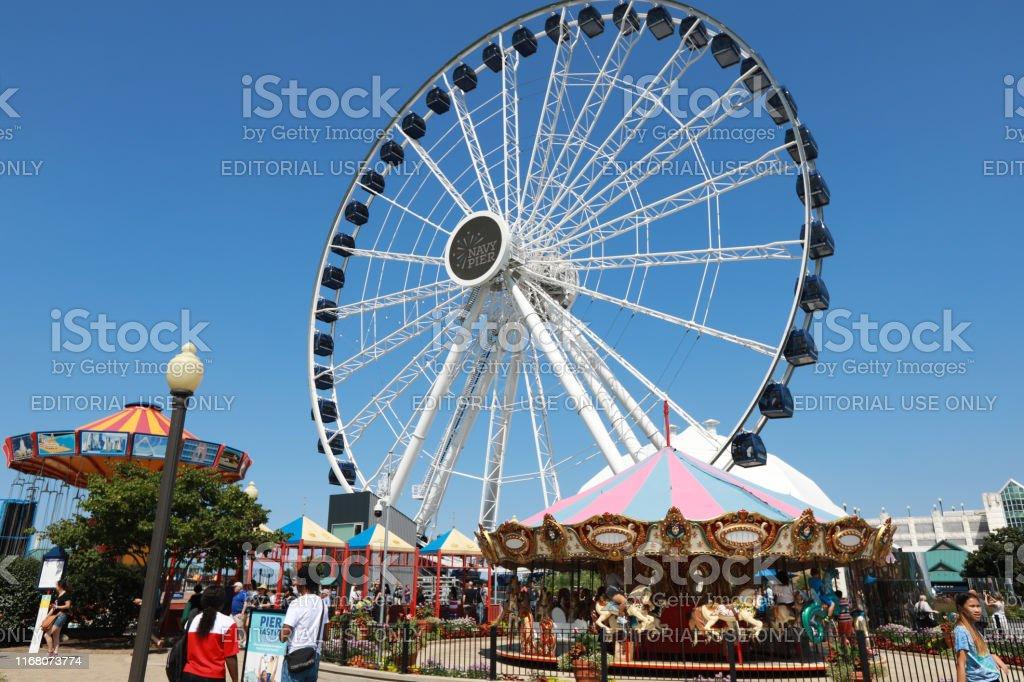 Chicago Ferris Wheel Stock Photo Download Image Now Istock