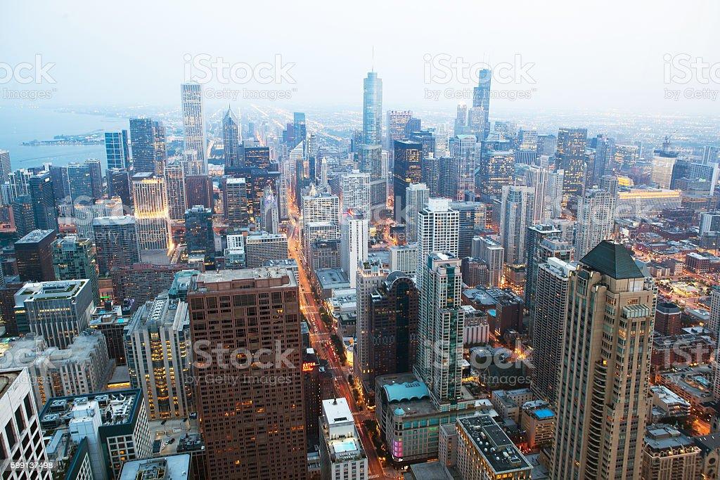 Chicago financial distict stock photo
