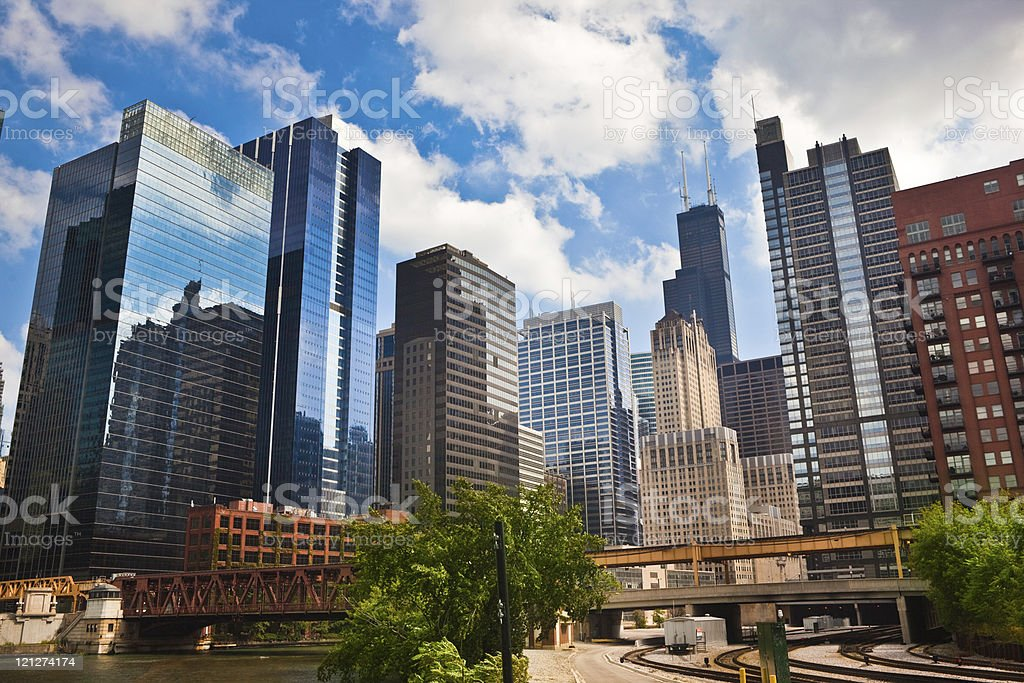 Chicago Financial District Stock Photo & More Pictures Of