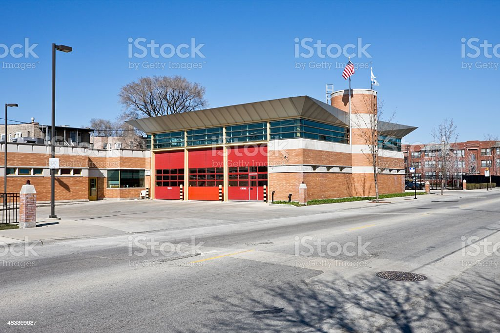 Chicago Fire Station royalty-free stock photo