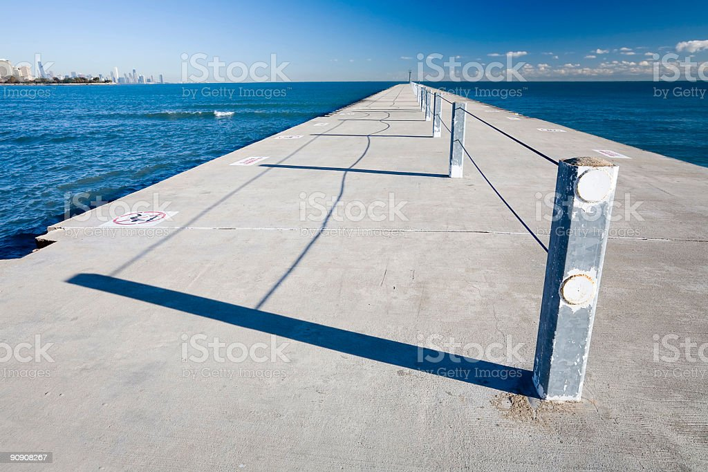 Chicago Fishing Pier royalty-free stock photo