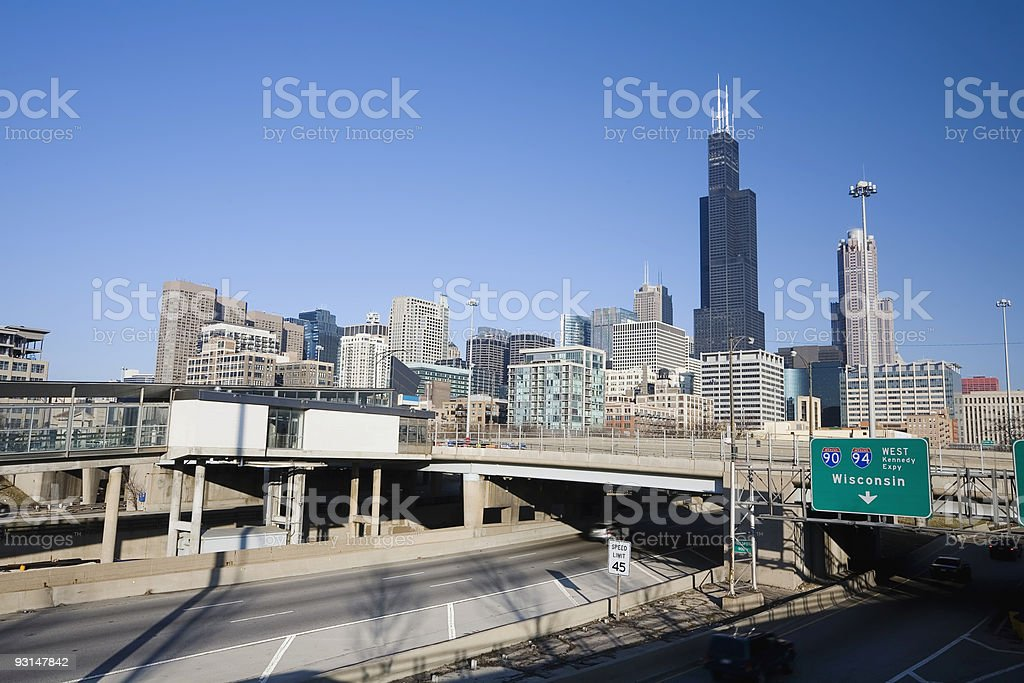 Chicago Freeway royalty-free stock photo
