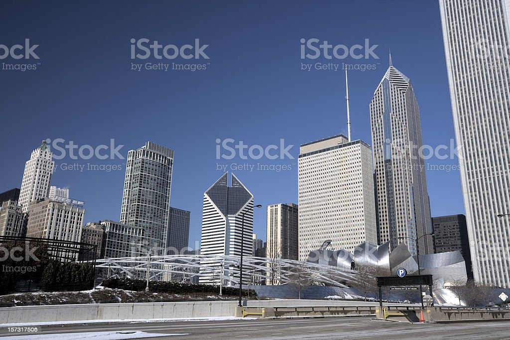 Chicago from Columbus Drive royalty-free stock photo