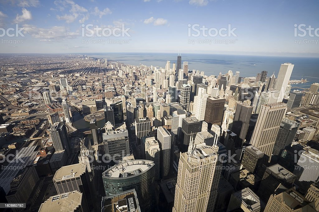 Chicago from the Air royalty-free stock photo