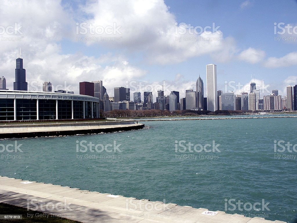 Chicago from the Water stock photo