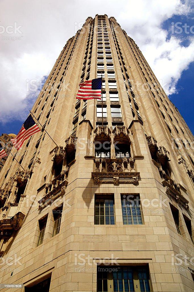 Chicago Gothic American Tribune Tower stock photo
