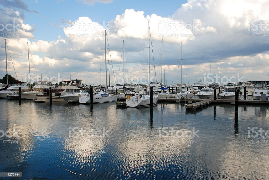 Chicago Harbor stock photo