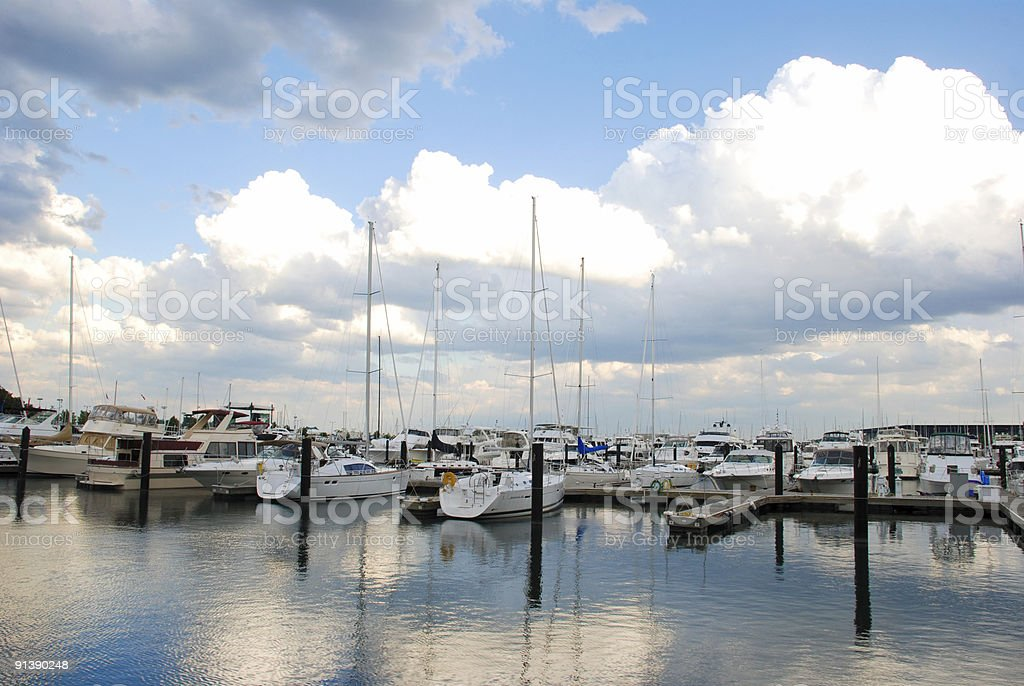 Chicago Harbor royalty-free stock photo