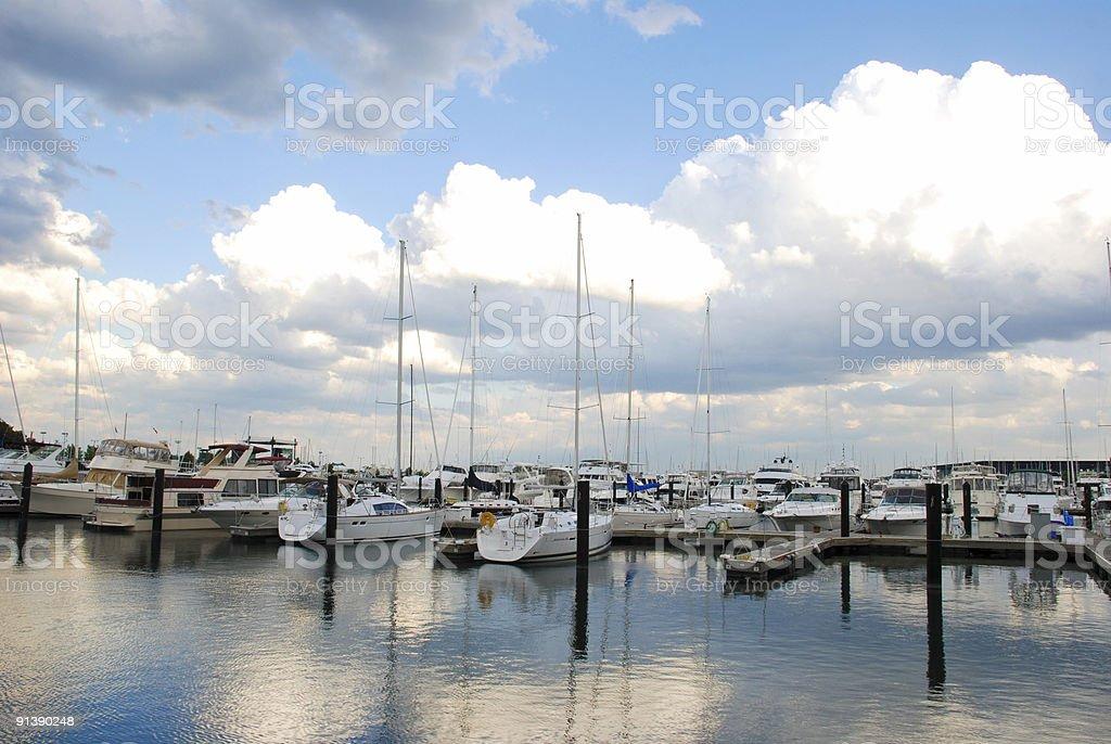 Chicago Harbor stock photo